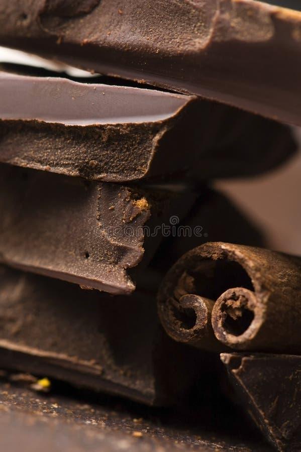 Chocolat fait maison avec de la cannelle images stock
