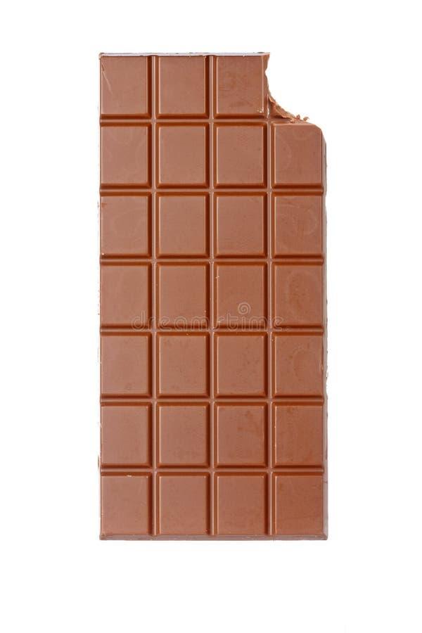 chocolat mordu par bar images libres de droits