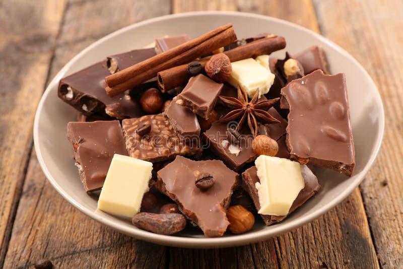 Chocolat, praline et épice photos libres de droits