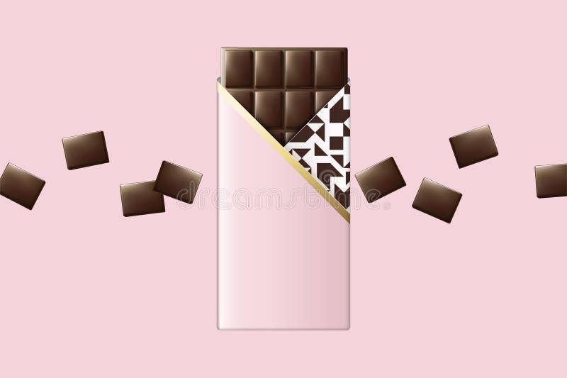 Chocolat rose de paquet illustration libre de droits