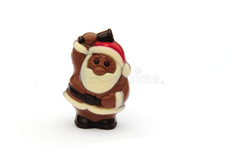 Chocolat Santa photo libre de droits