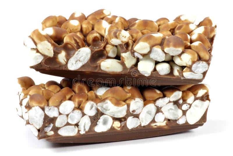 Chocolat soufflé de riz image stock