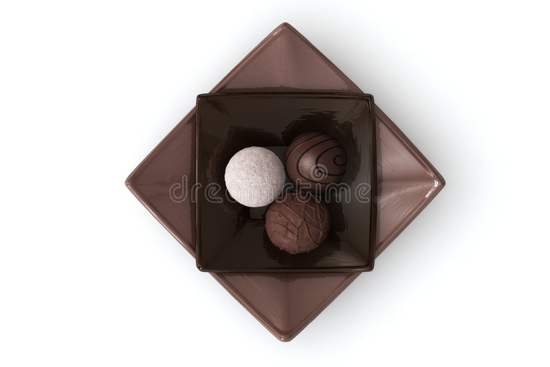 Chocolat sur le blanc photographie stock libre de droits