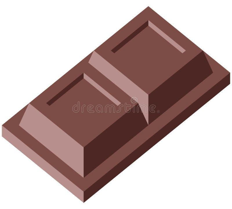 Chocolate 2 blocks stock images
