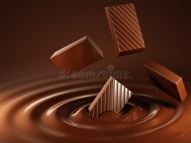 Download Chocolate stock illustration. Image of cocoa, swirl, mixing - 26927236