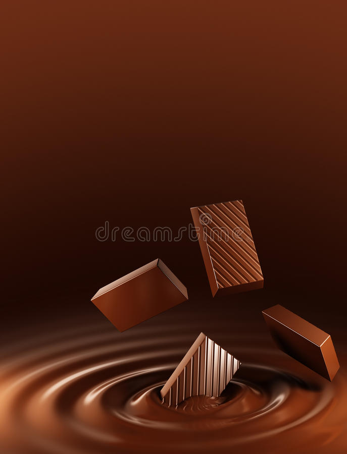 Download Chocolate stock illustration. Image of rippled, liquid - 27454164