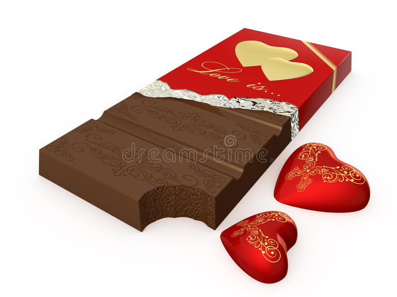 Download Chocolate stock photo. Image of heart, background, golden - 29216192