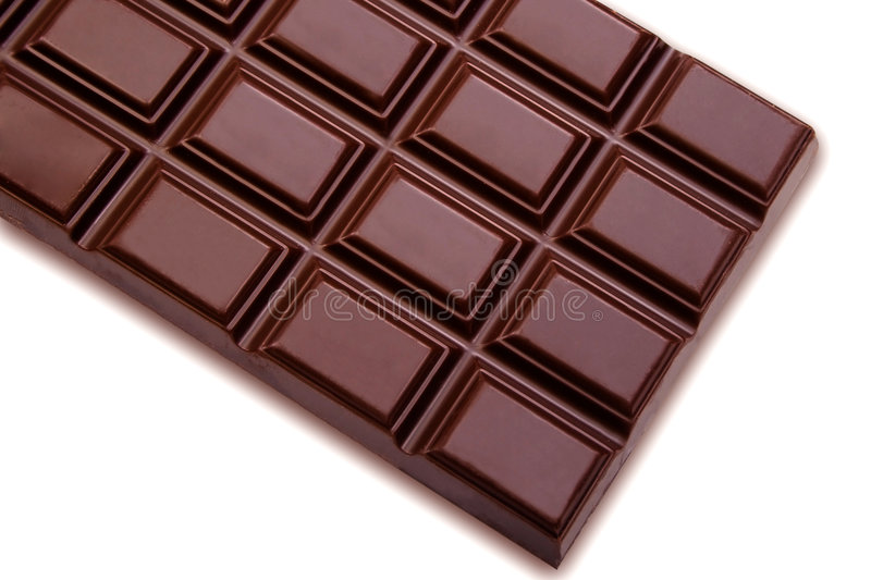 Chocolate. Delicious close-up of chocolate, cleaned and retouched to perfection royalty free stock photography