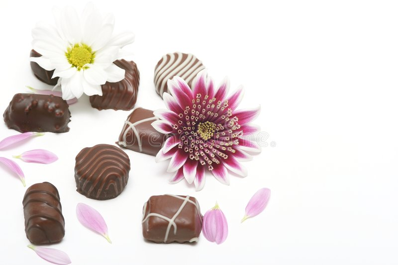 Download Chocolate stock image. Image of close, flowers, brown - 5095423