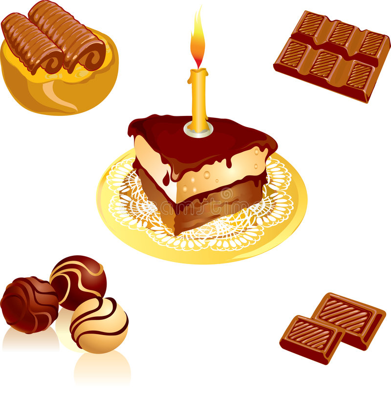 Chocolate ilustração royalty free