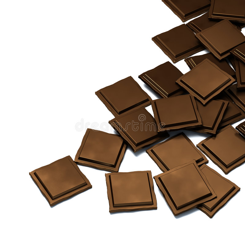 Chocolate ilustração stock