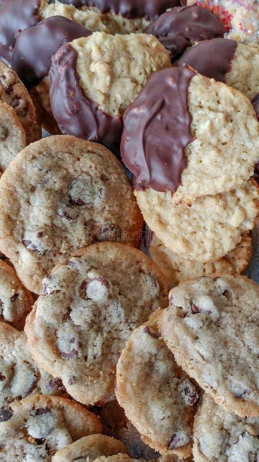Chocolate abstracto Chip Cookie Background imagenes de archivo