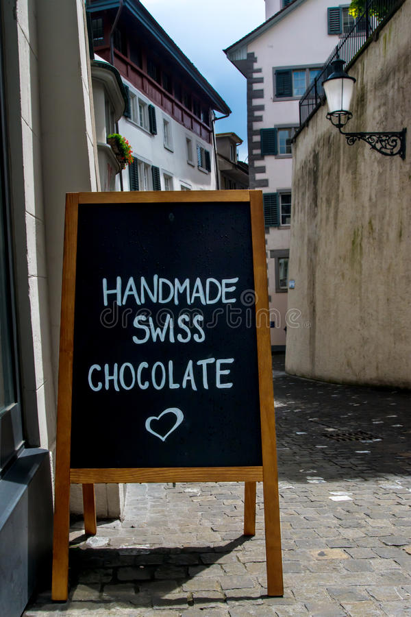 Chocolate advertising street royalty free stock photography