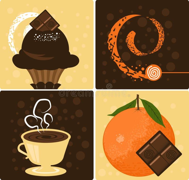 Chocolate alaranjado ilustração do vetor