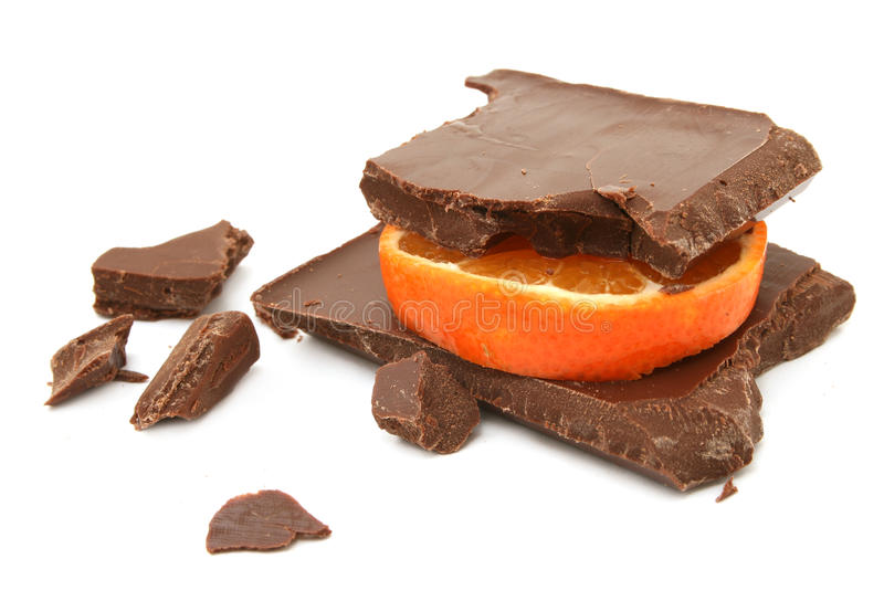 Chocolate alaranjado fotografia de stock