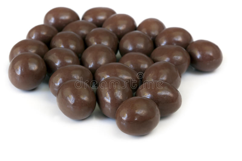 Download Chocolate Almonds stock image. Image of food, white, background - 14828141