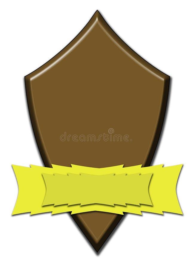 Chocolate Award Shield Royalty Free Stock Photos