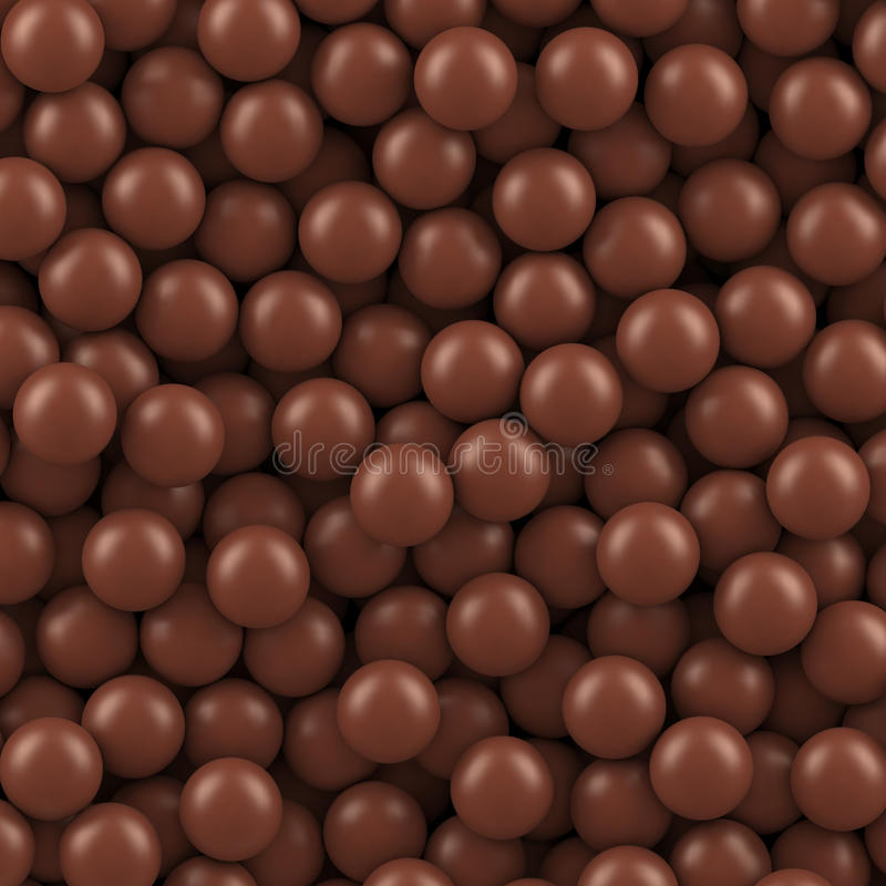 Chocolate balls background. Vector illustration Eps 10 royalty free illustration