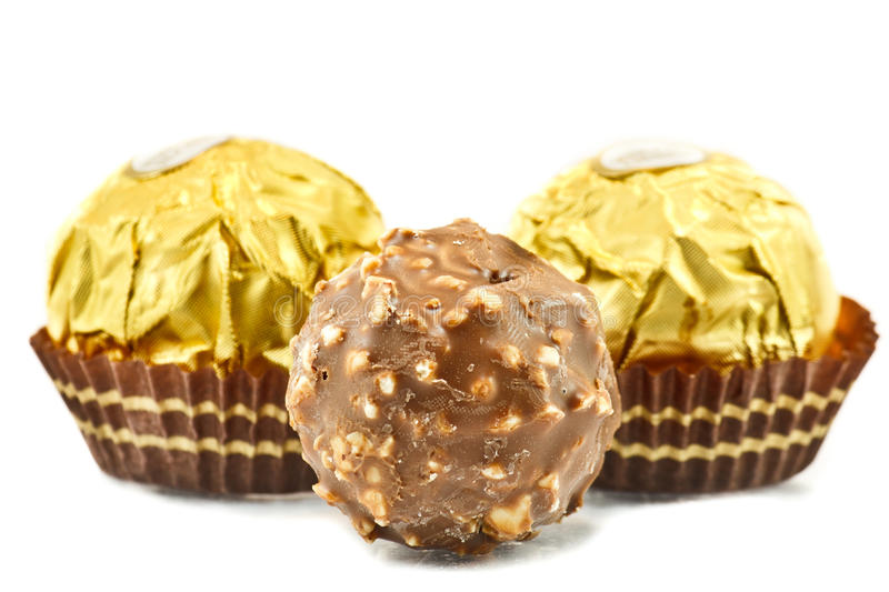 Chocolate Balls. Are praline or may be snack when afternoon royalty free stock image