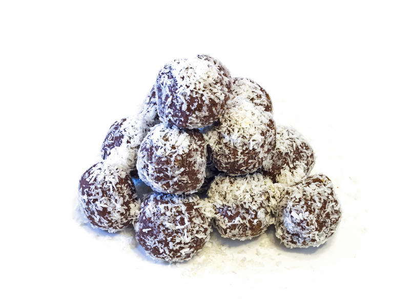 Chocolate balls . royalty free stock photos