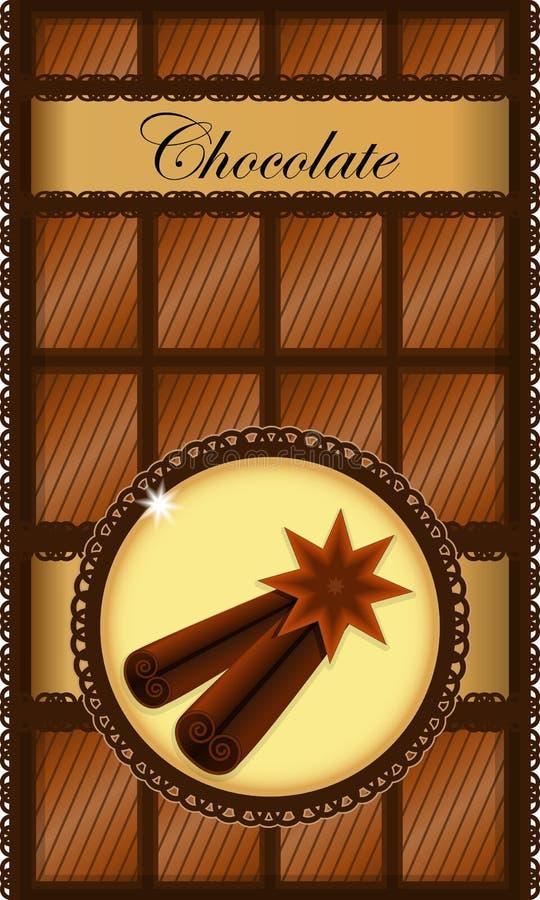 Download Chocolate bar stock vector. Image of cinnamon, cocoa - 22610382