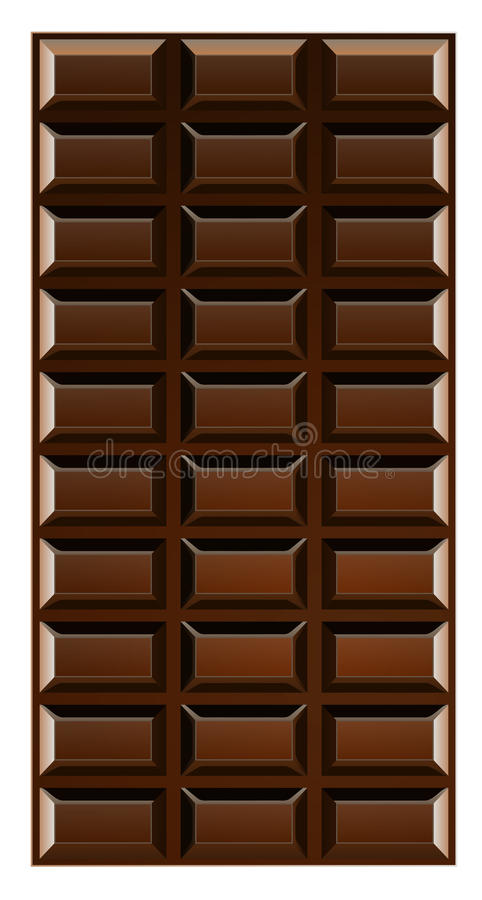 Download Chocolate bar stock vector. Illustration of piece, nutrition - 25394850