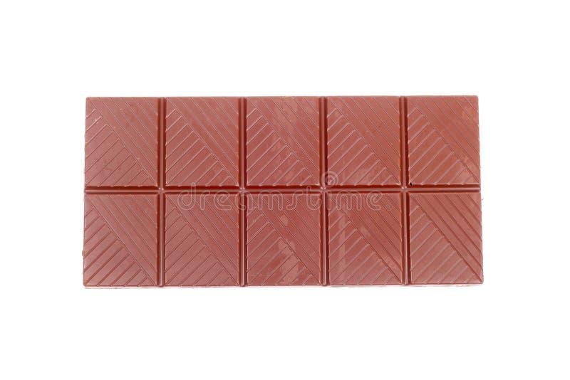 Chocolate bar. Broken chocolate bar isolated on white royalty free stock image