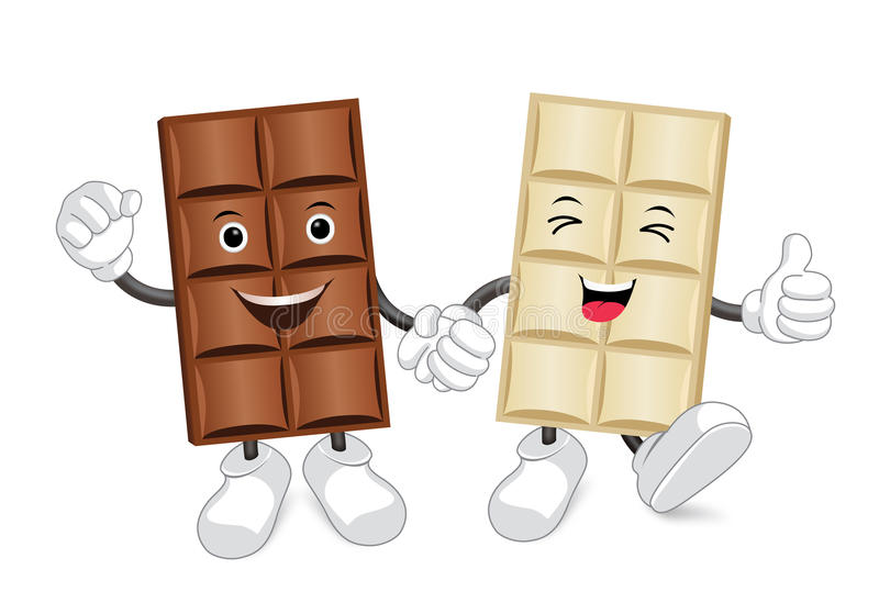 Chocolate Bar Characters Stock Vector Illustration Of