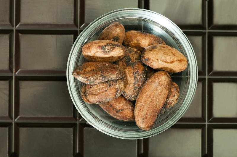 Download Chocolate Bar And Cocoa Beans Stock Photos - Image: 28144003