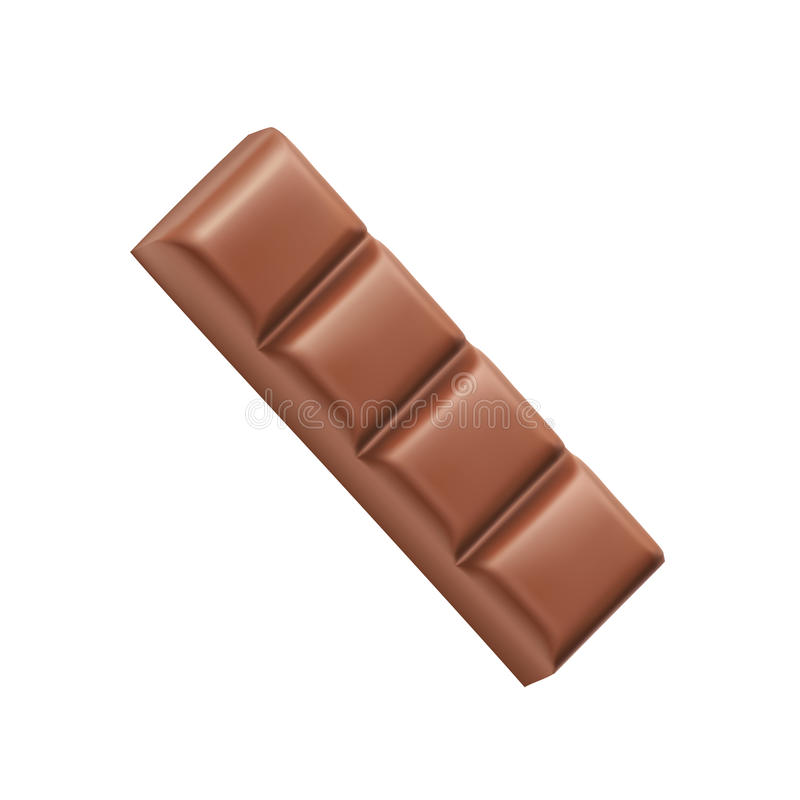 Chocolate bar four pieces vector royalty free illustration
