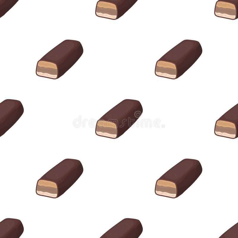 Chocolate bar icon in cartoon style isolated on white background. Chocolate desserts symbol stock vector illustration. Chocolate bar icon in cartoon design stock illustration