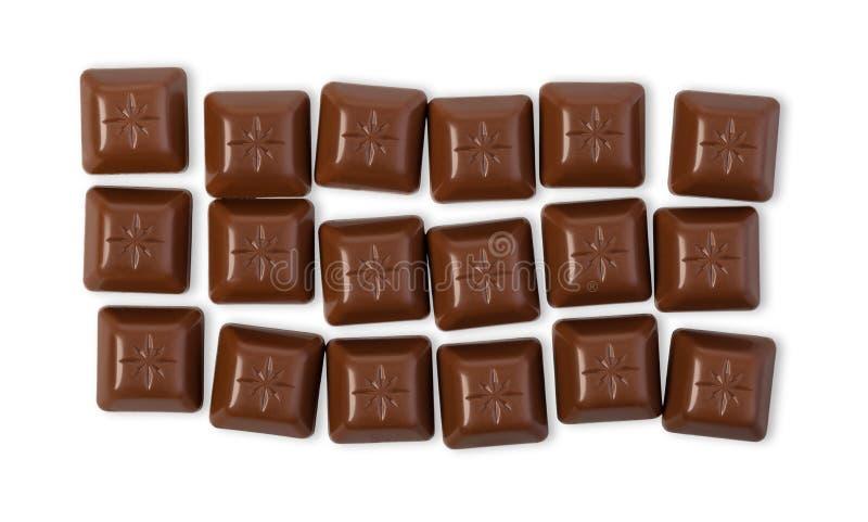 Chocolate bar. Isolated on white background royalty free stock photo
