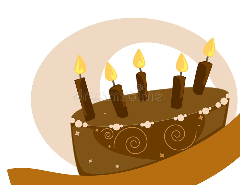 Chocolate Birthday cake image royalty free illustration