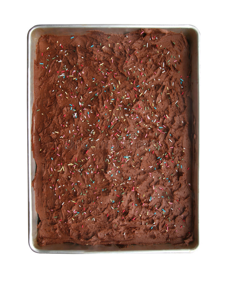 Chocolate birthday cake with path stock photography