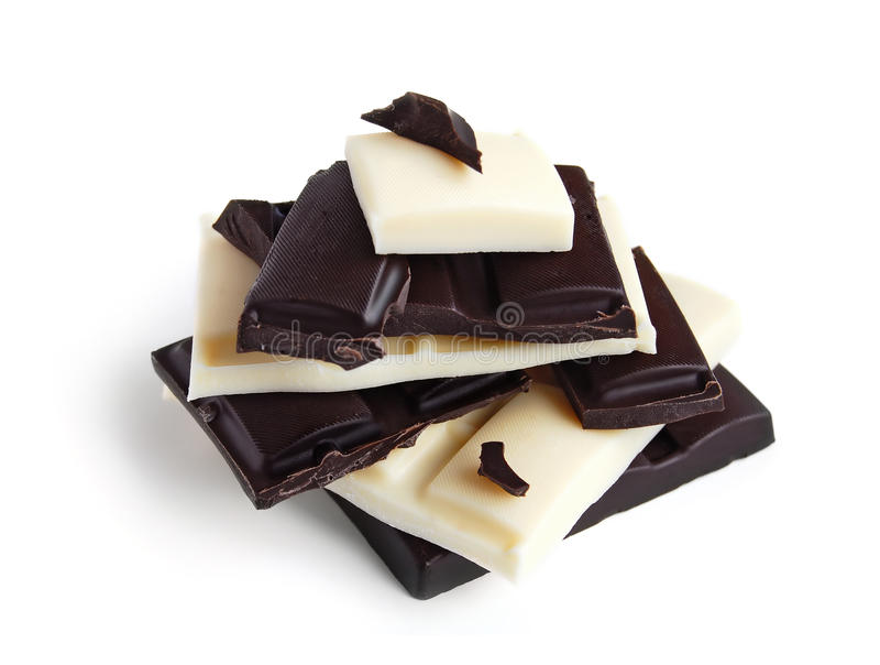 Chocolate blanco y negro fotos de archivo