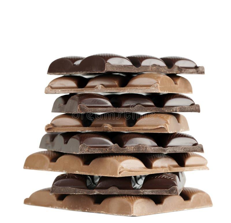 Chocolate blocks royalty free stock photo