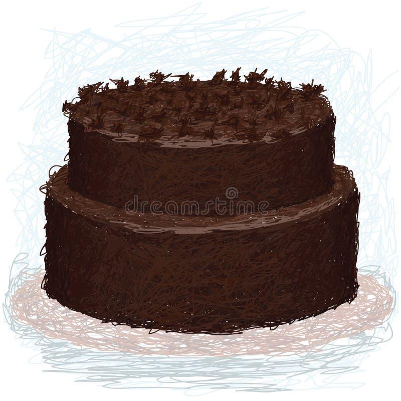 Chocolate-bolo ilustração do vetor