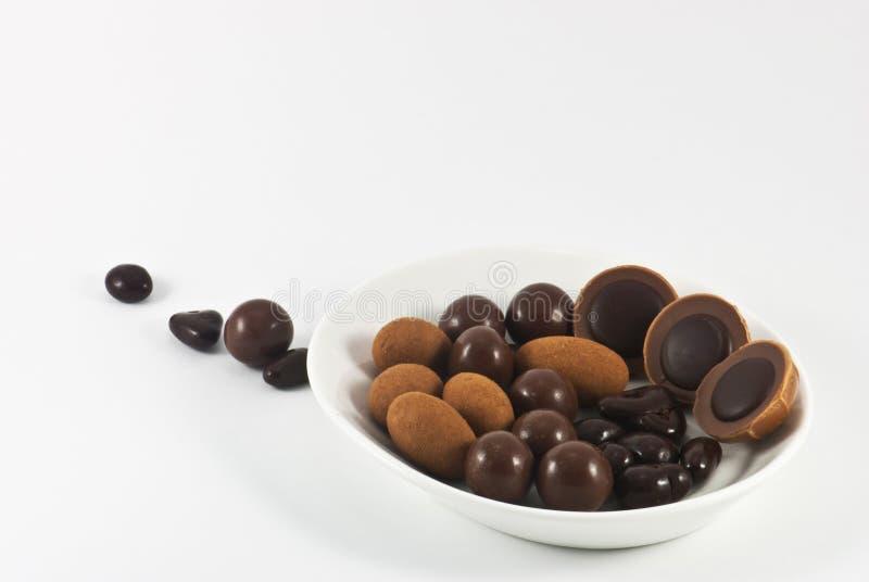 Chocolate bonbons royalty free stock photography