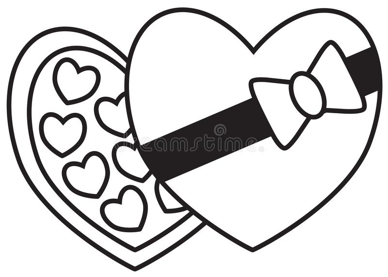 chocolate box and chocolates  truffles or bonbons stock vector
