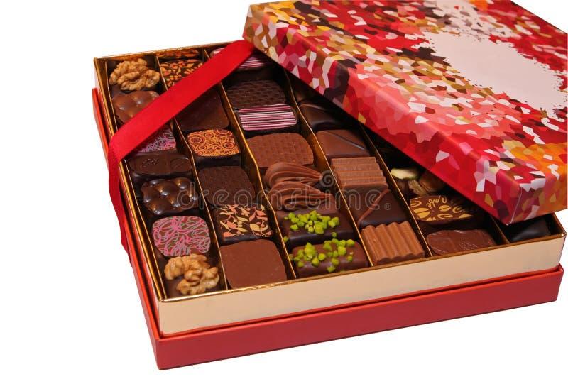 Chocolate box isolated stock photos