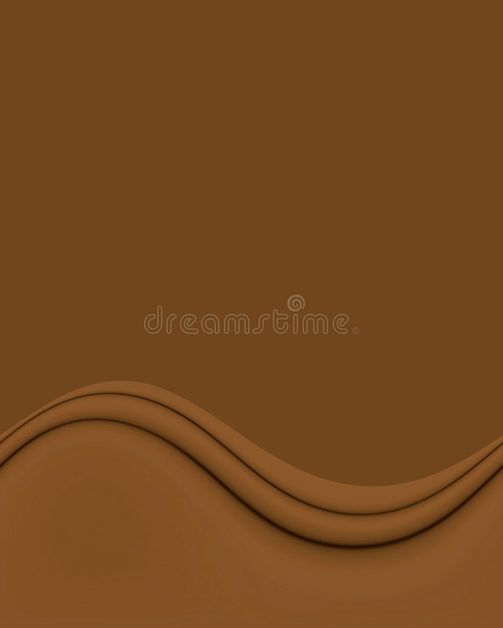 Chocolate Brown Wave. Satin smooth and rich looking chocolate brown wave abstract on more brown copyspace vector illustration