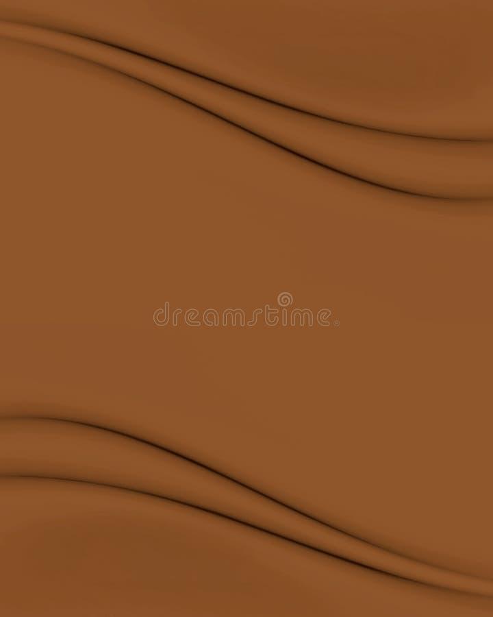 Chocolate Brown Waves stock illustration