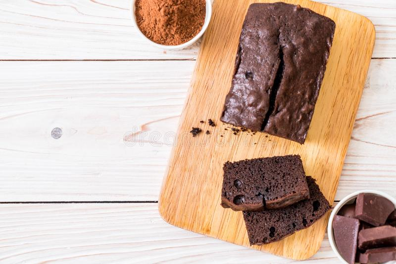 Chocolate Brownie Cake imagem de stock royalty free