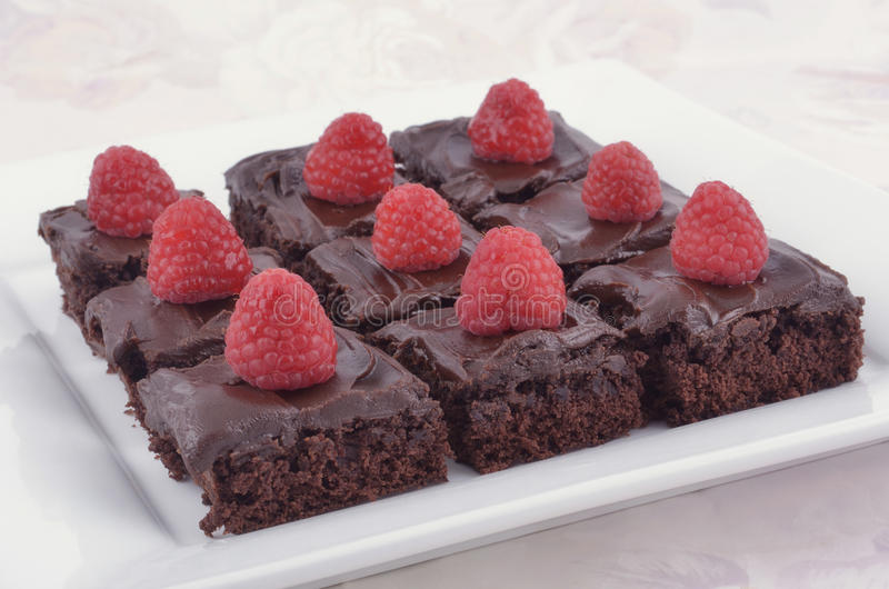 Download Chocolate brownies stock photo. Image of nobody, icing - 26021690