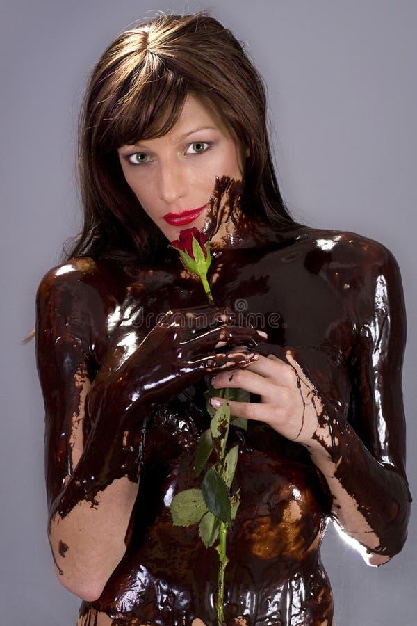 Download Chocolate brunette stock photo. Image of brunette, female - 6840076