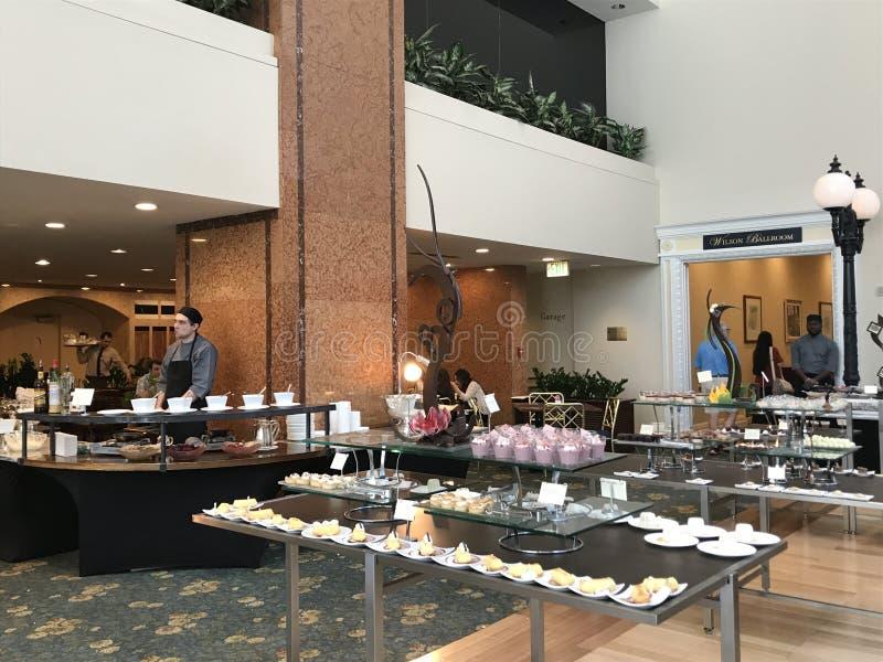 Chocolate Buffet At Café Fleuri In Langham Hotel In Boston