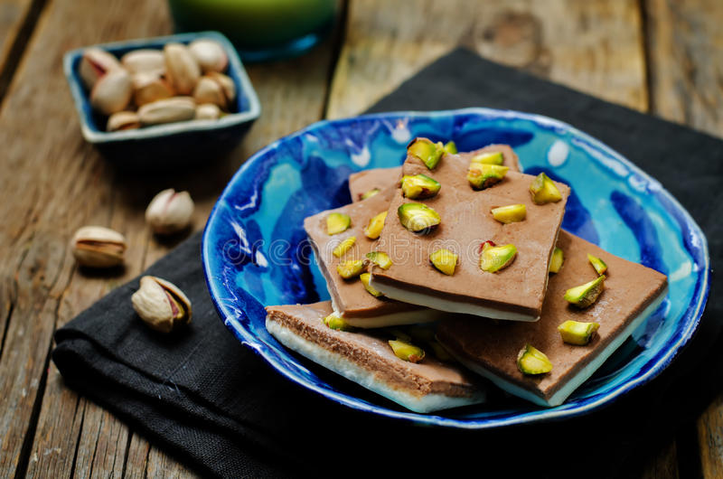 Chocolate burfi. Indian sweets stock photography