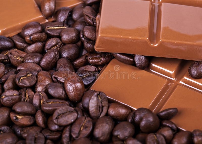 Chocolate, café, apetito del Bon foto de archivo