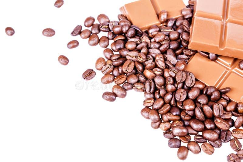 Chocolate, café, apetito del Bon imagen de archivo libre de regalías