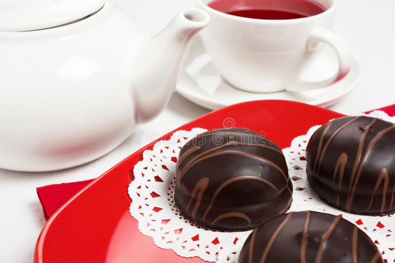 Download Chocolate cake stock photo. Image of icing, beverage - 18119724